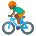 Person Biking: Medium-Dark Skin Tone on Google Android 9.0