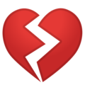 Broken Heart on Google Android 9.0