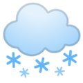 Cloud With Snow on Google Android 9.0
