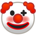 Clown Face on Google Android 9.0