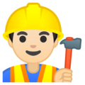 Construction Worker: Light Skin Tone on Google Android 9.0