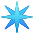 Eight-Spoked Asterisk on Google Android 9.0