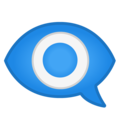 Eye in Speech Bubble on Google Android 9.0
