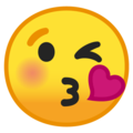 Face Blowing a Kiss on Google Android 9.0