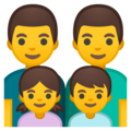 Family: Man, Man, Girl, Boy on Google Android 9.0