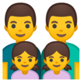 Family: Man, Man, Girl, Girl on Google Android 9.0