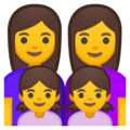Family: Woman, Woman, Girl, Girl on Google Android 9.0