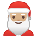 Santa Claus: Medium-Light Skin Tone on Google Android 9.0