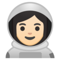 Woman Astronaut: Light Skin Tone on Google Android 9.0