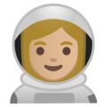 Woman Astronaut: Medium-Light Skin Tone on Google Android 9.0