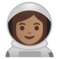 Woman Astronaut: Medium Skin Tone on Google Android 9.0
