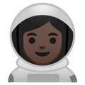 Woman Astronaut: Dark Skin Tone on Google Android 9.0