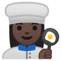Woman Cook: Dark Skin Tone on Google Android 9.0