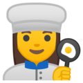 Woman Cook on Google Android 9.0