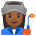 Woman Factory Worker: Medium-Dark Skin Tone on Google Android 9.0
