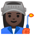 Woman Factory Worker: Dark Skin Tone on Google Android 9.0