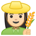 Woman Farmer: Light Skin Tone on Google Android 9.0