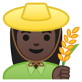 Woman Farmer: Dark Skin Tone on Google Android 9.0