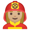 Woman Firefighter: Medium-Light Skin Tone on Google Android 9.0