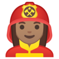 Woman Firefighter: Medium Skin Tone on Google Android 9.0