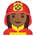 Woman Firefighter: Medium-Dark Skin Tone on Google Android 9.0