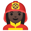 Woman Firefighter: Dark Skin Tone on Google Android 9.0