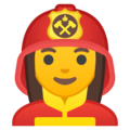 Woman Firefighter on Google Android 9.0