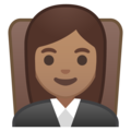 Woman Judge: Medium Skin Tone on Google Android 9.0