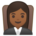 Woman Judge: Medium-Dark Skin Tone on Google Android 9.0