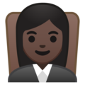 Woman Judge: Dark Skin Tone on Google Android 9.0