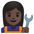 Woman Mechanic: Dark Skin Tone on Google Android 9.0