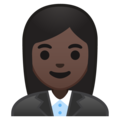 Woman Office Worker: Dark Skin Tone on Google Android 9.0