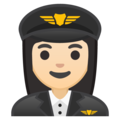 Woman Pilot: Light Skin Tone on Google Android 9.0