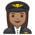 Woman Pilot: Medium Skin Tone on Google Android 9.0