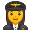Woman Pilot on Google Android 9.0