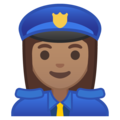 Woman Police Officer: Medium Skin Tone on Google Android 9.0