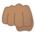 Oncoming Fist: Medium Skin Tone on Google Android 9.0