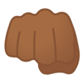 Oncoming Fist: Medium-Dark Skin Tone on Google Android 9.0