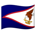 Flag: American Samoa on Google Android 9.0