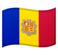 Flag: Andorra on Google Android 9.0