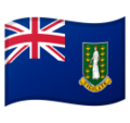 Flag: British Virgin Islands on Google Android 9.0
