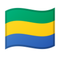 Flag: Gabon on Google Android 9.0