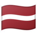Flag: Latvia on Google Android 9.0