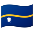 Flag: Nauru on Google Android 9.0