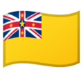 Flag: Niue on Google Android 9.0