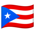 Flag: Puerto Rico on Google Android 9.0