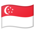 Flag: Singapore on Google Android 9.0