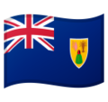 Flag: Turks & Caicos Islands on Google Android 9.0