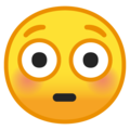 Flushed Face on Google Android 9.0