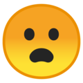 Frowning Face With Open Mouth on Google Android 9.0